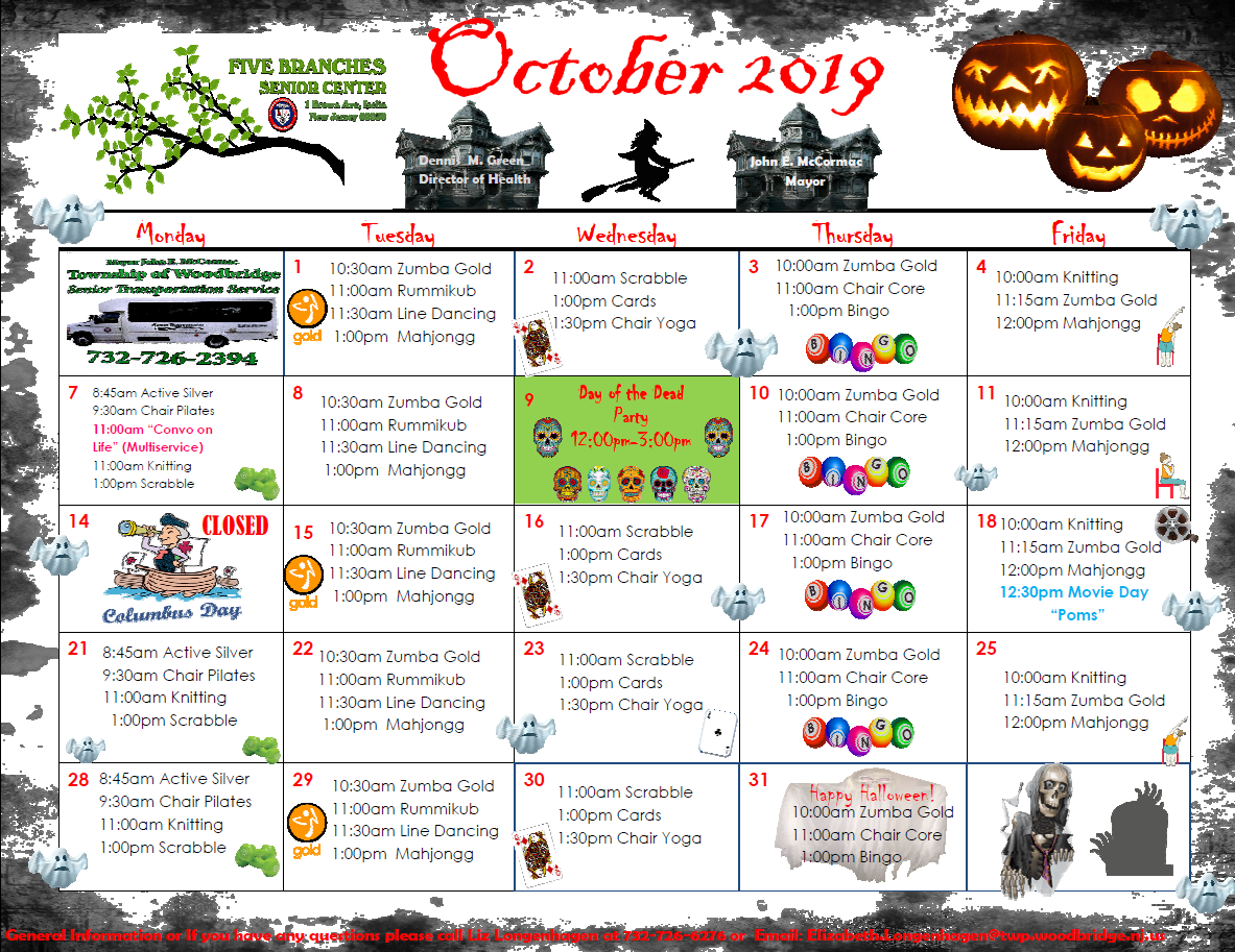Five Branches October 2019 Calenda